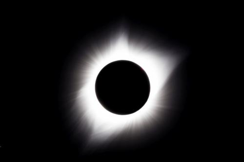 Całkowite zaćmienie Słońca Korona